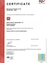 ISO Certificate 9001: 2008